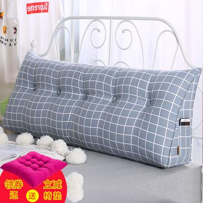 床头靠垫三角双人卧室大靠背软包榻榻米公主床上用品靠枕腰枕护腰