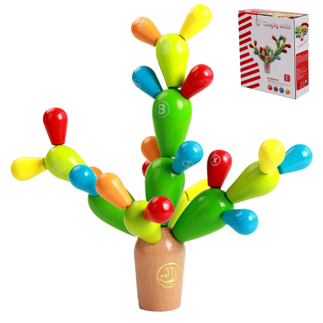 儿童木制玩具拼插积木仙人掌早教益智蒙特梭利幼儿童高级积木图片