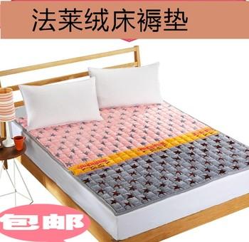 最新注册白菜全讯网床垫法莱绒床褥垫1.5米双单