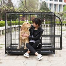 特大号L大型犬中型犬金毛狗笼拉布拉多阿拉斯加 萨摩耶加粗狗笼子