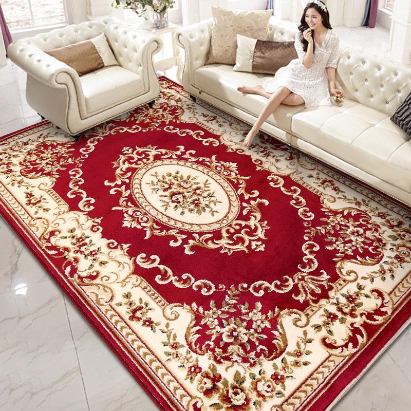 欧式地毯简约现代客厅卧室家用满铺沙发床边美式房间加厚长方形毯