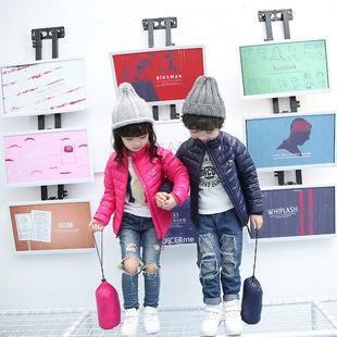 2017新款儿童羽绒服韩版百搭男女中大童轻薄款外套立领内胆羽绒服