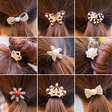韩国橡皮筋扎头发饰品小珍珠蝴蝶结发圈发绳发饰头饰头绳头花发卡