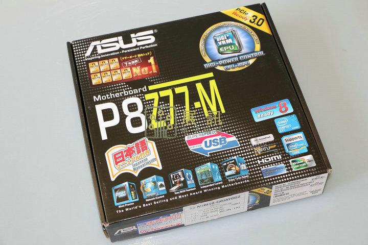 全新盒装 华硕 P8Z77-M M-ATX主板 支持前置USB3 支持E3 1230