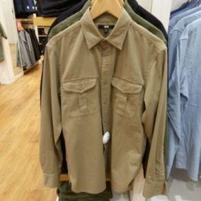 代购 男装 斜纹工装衬衫(长袖) 172938 优衣库UNIQLO专柜正品