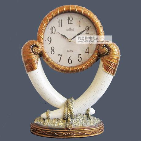 丽盛豪华欧式客厅钟表大座钟时尚创意坐钟静音石英钟