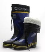 大码冬季雨鞋男高筒加绒保暖棉雨靴 防滑套鞋橡胶水鞋水靴钓鱼鞋