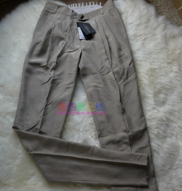 国内现货 BURBERRY 高端PRORSUM系列美购正品女式真丝高腰小脚裤