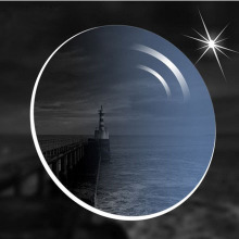 1.56防紫外线防辐射近视太阳镜带度数墨镜片定制 配近视太阳镜片