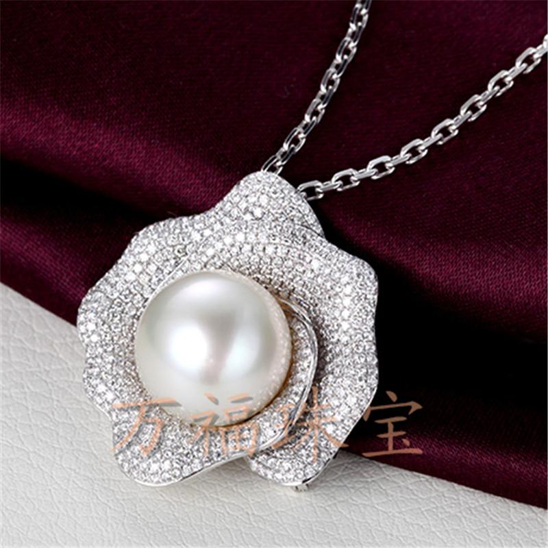 万福珠宝首饰翡翠天然珍珠宝石承接18K镶嵌加工定制吊坠工费订金