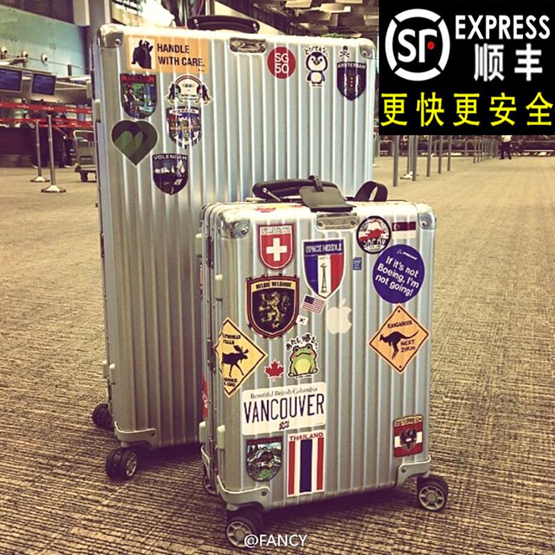 商务 拉杆登机万向轮金属行李箱箱硬箱旅行