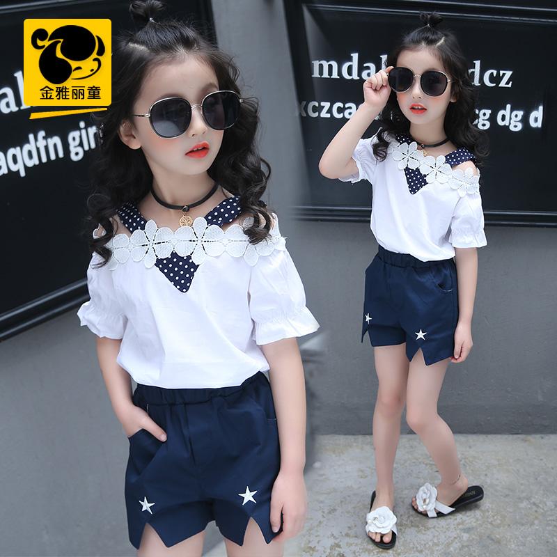 兩件套夏季夏裝短袖休閑套裝韓版中大童潮女孩女童兒童