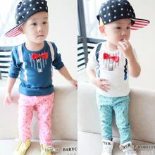 一 二 三周岁男童宝宝2014春秋装新款1-2-3-4岁儿童长袖两件套装