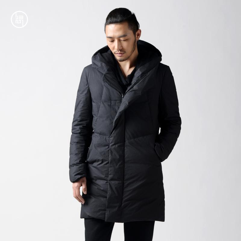 長款設計師原創外套保暖加厚國風歸心冬季男裝羽絨服