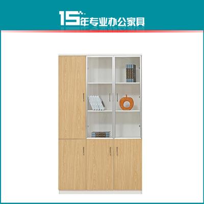 上海木质文件柜板式带锁员工资料柜子档案柜储物柜办公室玻璃书柜