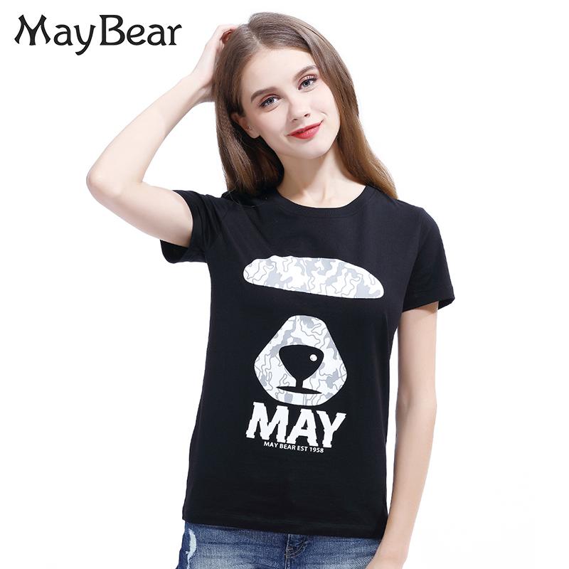 印花情侶裝小熊夏季時尚短袖簡約女士 May