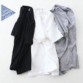 纯棉纯色t恤短袖男士tshirt春夏新款日系简约男打底衫白色圆领tee