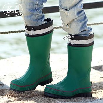 B&L儿童雨鞋大童时尚经典橡胶中筒