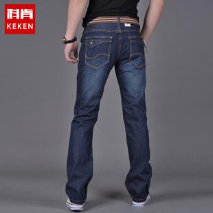 夏季牛仔裤男士直筒百搭休闲大码宽松韩版修身薄款青年长裤子男装