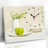 饰画电表箱挂画餐厅客厅配电箱壁画墙画无框带挂钟表空开盒 遮挡装