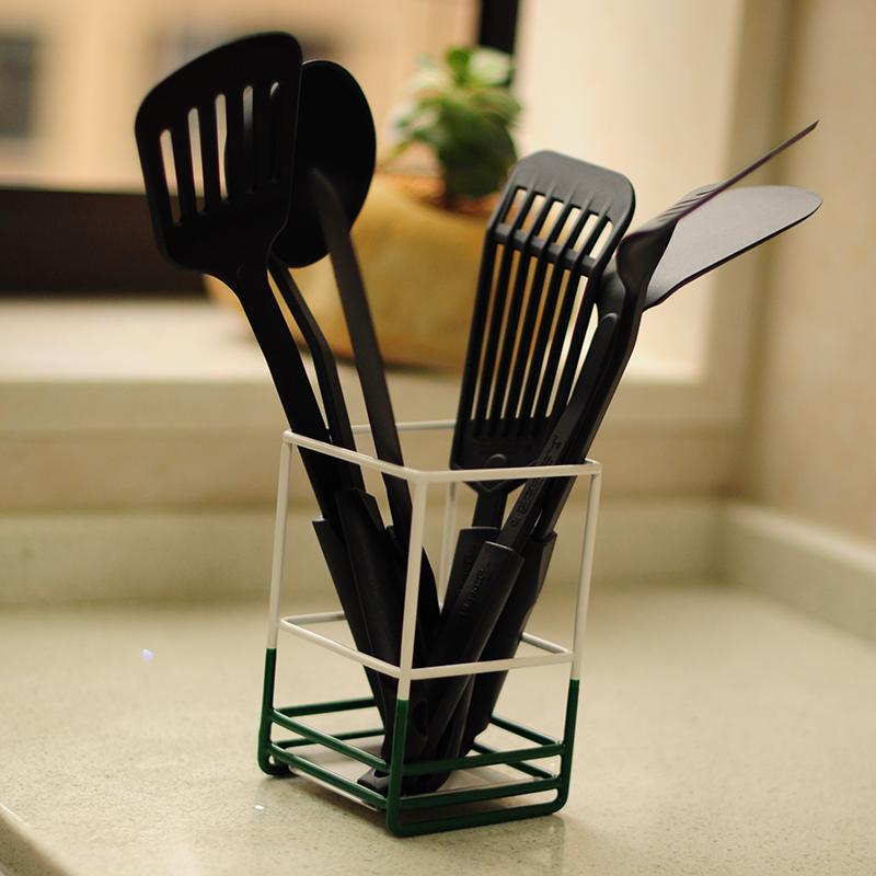 耐高温尼龙厨具六件套不粘锅专用铲汤勺漏铲煎铲片刀