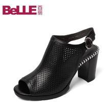 Belle/百丽2016春季专柜同款牛皮女凉鞋3Y438AL6 专柜图片