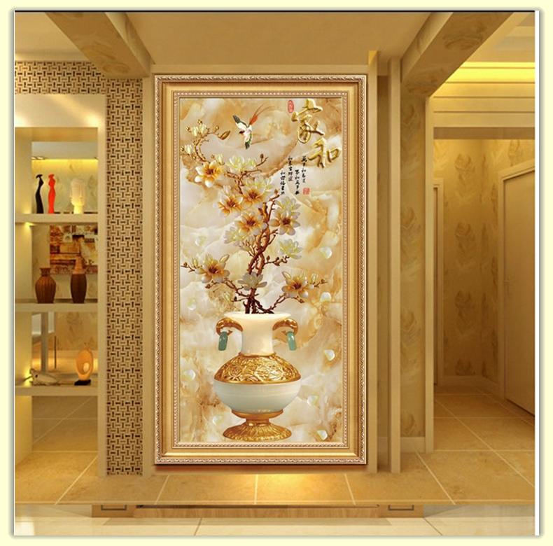 新欧式客厅装饰画玄关竖版过道走廊挂画大厅房间墙面