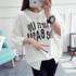 2017春夏新款女装韩版时尚字母印花圆领短袖t恤女百搭宽松体恤潮