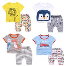 男女宝宝夏季童装两件套1-3-5-7周岁