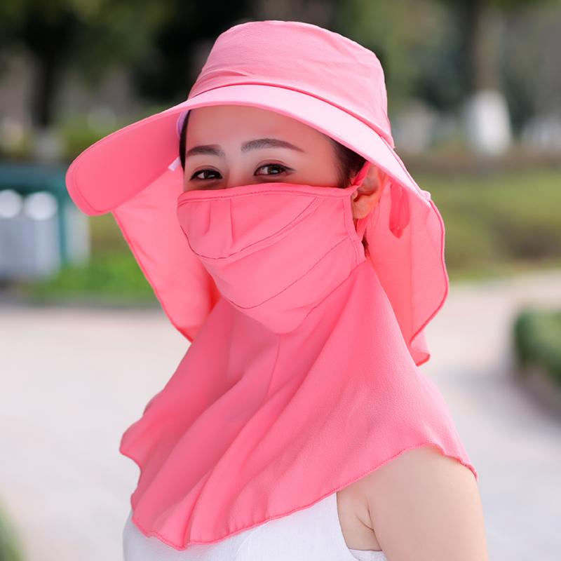 出游电动车防晒太阳遮阳帽户外帽子女夏遮脸防紫外线