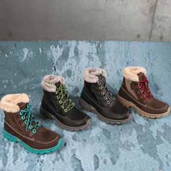 冬季雪地靴男女情侣棉鞋皮靴户外