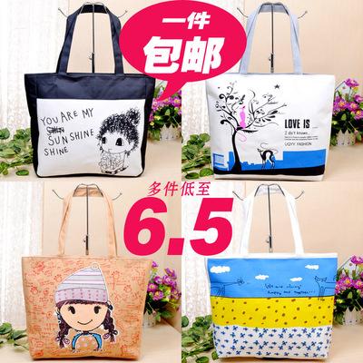 2015新款女包帆布包单肩包时尚潮流购物袋韩版手提大包包学生书包