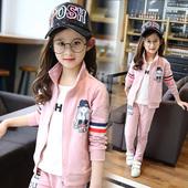 童装女童春装套装2017新款小女孩春秋儿童卫衣两件套中大童运动服