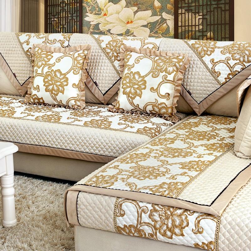 骆易家 沙发垫套装 冰麻布艺沙发垫组合坐垫四季沙发套 无需测量