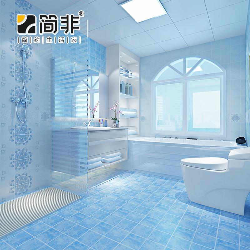 简非 蓝色地中海仿古砖 防滑地砖釉面砖 厨房墙砖厕所卫生间瓷砖