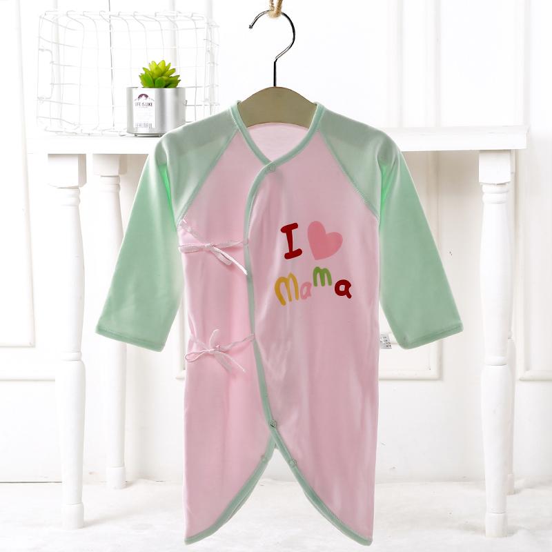 婴儿连体衣夏季薄款长袖蝴蝶衣新生儿衣服春秋冬装男女宝宝哈衣