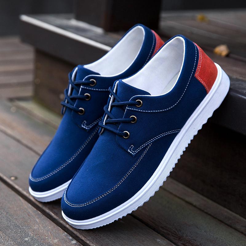 夏季帆布鞋男士休闲鞋男韩版布鞋男鞋运动板鞋透气学生男生潮鞋子