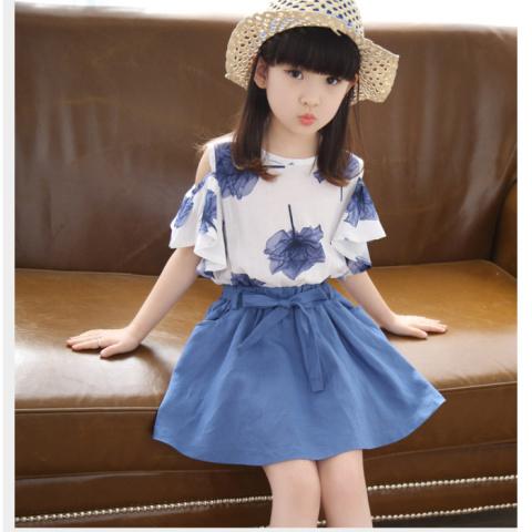 短袖儿童套装裙子女童连衣裙夏季公主童装韩版大夏装
