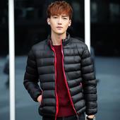 休闲棉服青少年棉衣男装新款男士加厚保暖棉袄清仓冬装立领外套潮