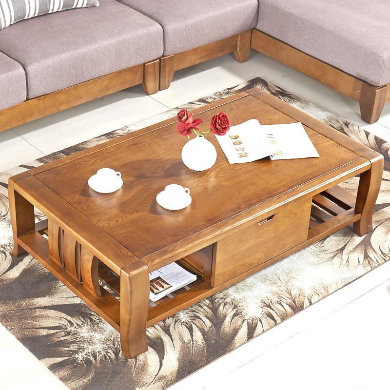 中式小户型茶几现代简约客厅家具组装双层