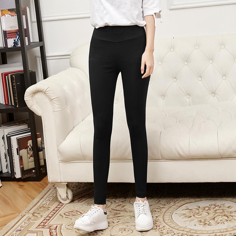 黑色女士小腳春秋底褲夏季外穿女薄款百搭顯瘦