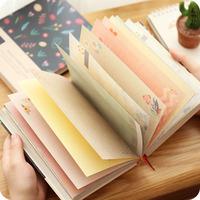 包邮  创意复古插画精装本 加厚彩色内页日记手帐本 学生笔记本