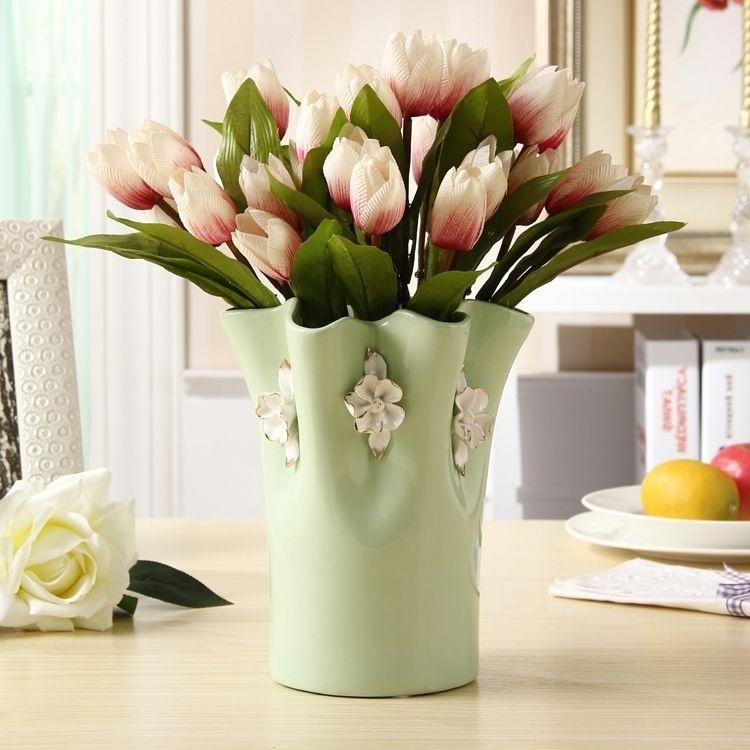欧式创意陶瓷小花瓶摆件客厅餐桌花艺插花花器现代品