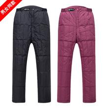 大码冬装羽绒裤男女款式中老年人内外穿加厚修身保暖羽绒棉裤内胆