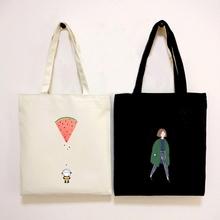 帆布包女单肩日韩国文艺森系学生书包环保购物袋简约百搭小清新