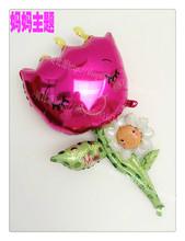 新款 美国anagram母亲节女人节气球 妈妈生日鲜花朵派对装饰气球