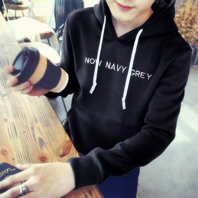 2017新款春季男士套头卫衣情侣韩版连帽衫上衣服男生学生潮流外套