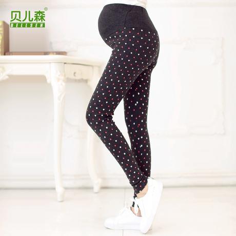 贝儿森孕妇装托腹裤修身韩版孕妇小脚弹力打底长裤子高腰秋季新品商品大图