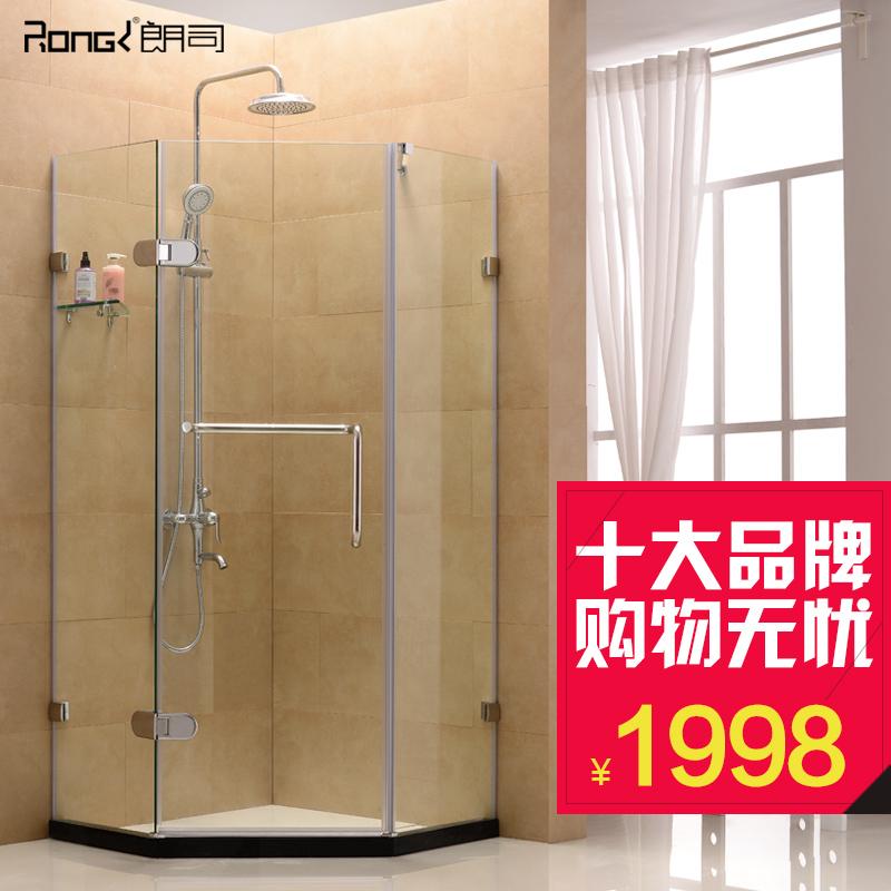 朗司钻石淋浴房 304不锈钢 隔断屏风 简易钢化玻璃整体浴房
