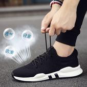 夏季新款韩版潮流男鞋百搭跑步运动休闲透气男士帆布板鞋潮鞋秋季